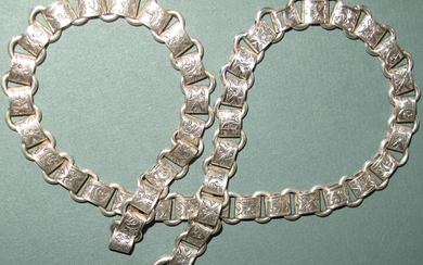 Victorian silver necklace Converted from book chain GC3A