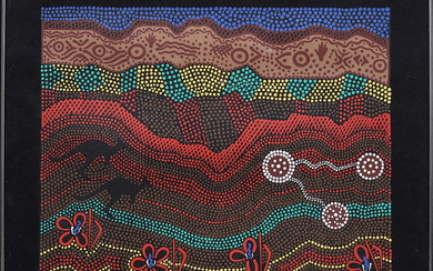 "WENDY PAWLEY. Tygtryck, ""Kamilaroi Country""."