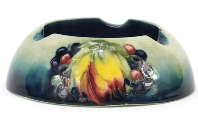 William Moorcroft pottery ashtray, hand painted in the