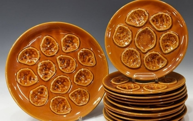 (13) FRENCH NIDERVILLER FAIENCE OYSTER SERVICE