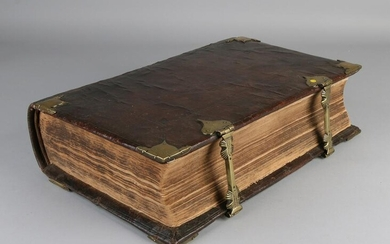 17th century Dutch State Bible (States General) with