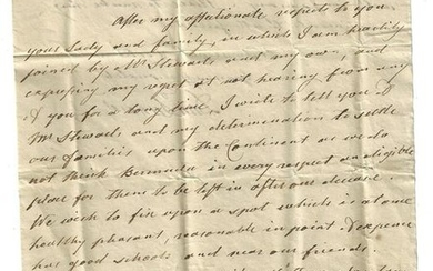 1803 Interesting Bermuda Letter Loyalist Chief Justice