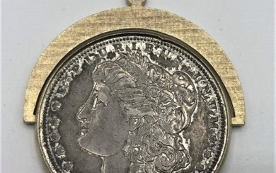 1889 Morgan Silver Dollar Made into Pendant