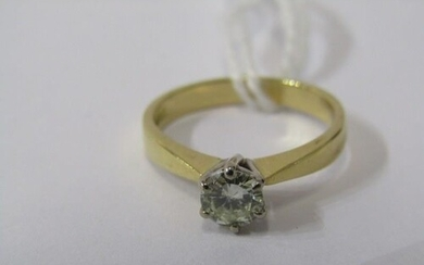 18ct YELLOW GOLD DIAMOND SOLITAIRE RING, principal brilliant...
