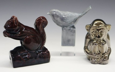 3 Rookwood Pottery Paperweights