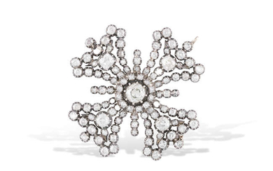 Description A MID 19TH CENTURY DIAMOND PENDANT/BROOCH, CIRCA 1860...