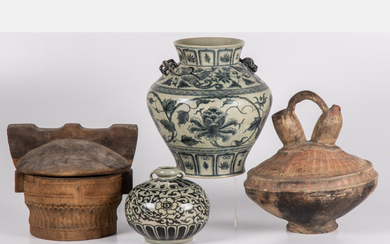 A Collection of Asian Decorative Items