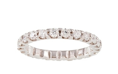 A DIAMOND FULL BANDED ETERNITY RING, the brilliant cut diamo...