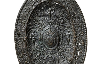 A French cast-bronze ornamental plate, circa 1600 or later