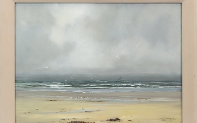 A GREY MORNING, AN OIL BY HENRY HADFIELD
