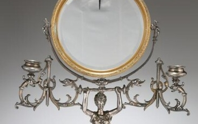 A LATE 19TH CENTURY FRENCH SILVER-PLATED DRESSING