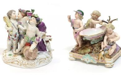 A Meissen Porcelain Figure Group, late 19th/early 20th century, representing...