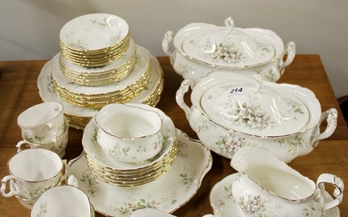 A Royal Albert Haworth pattern dinner and tea service, first quality.
