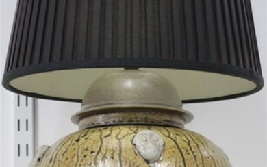 A STUDIO POTTERY LAMP BASE
