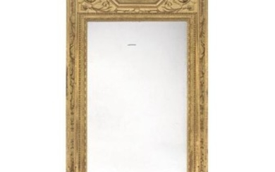 A Swedish giltwood and gilt composition mirror and console table, in late 18th century style, late 19th century