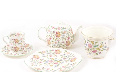 A collection of Minton Haddon Hall pattern china.
