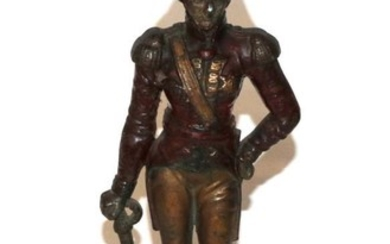 A painted cast iron doorstop figure of the Duke of...
