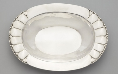 A silver sweetmeats dish by Georg Jensen, model no. 3