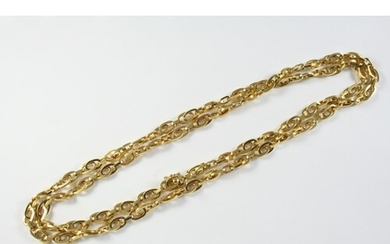 AN 18CT GOLD OVAL LINK NECKLACE 88cm long, 78.2 grams
