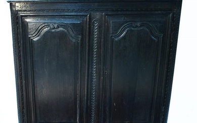 An 18th Century French provincial carved oak side