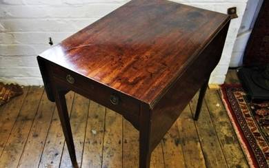 An early 19th century mahogany Pembroke table, with a single...