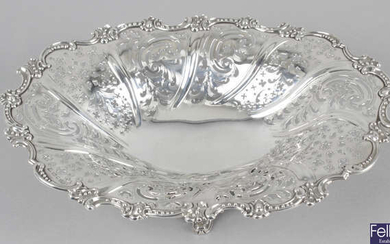 An early Victorian silver pierced fruit dish.