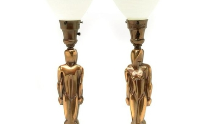 Art Deco Period Pair of Colonial Premier Co. Figural