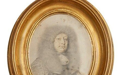 Attributed to David Loggan, English 1635-1692- Portrait...