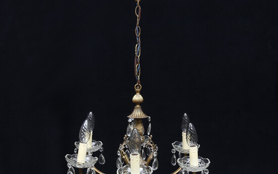 CHANDELIER, for six candles, rococo style, 20th century.