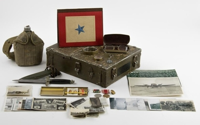 """COMBAT KNIFE, PHOTO, RELIC AND INSIGNIA GROUPING OF SGT. ROLLO G. RICE, CO. E, 506 P.I.R. """"THE BAND OF BROTHERS"""""""