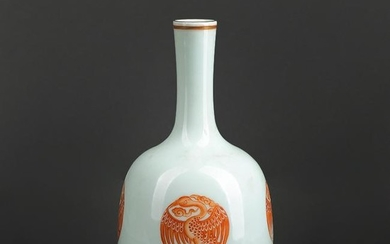 Chinese Red and white dragon Porcelain Vase