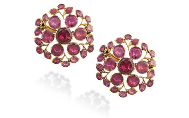 Description A PAIR OF EARLY 19TH CENTURY BROOCHES WITH...