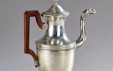 Empire style silver watering can.