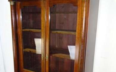FRENCH EMPIRE STYLE MAHOGANY BIBLIOTHEQUE