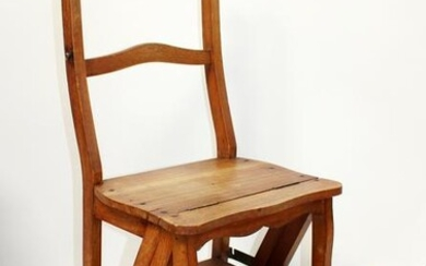 French folding library ladder chair