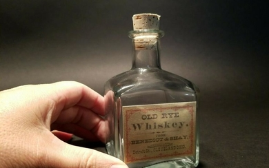 Glass Whiskey Medicine Apothecary Decanter Bottle