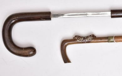Group of Two Sword Canes