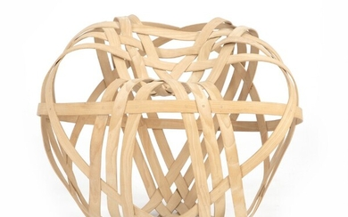 """NOT SOLD. Henriette W. Leth: """"The Big Apple"""". Sculptural chair of compressed, woven beech. Made..."""