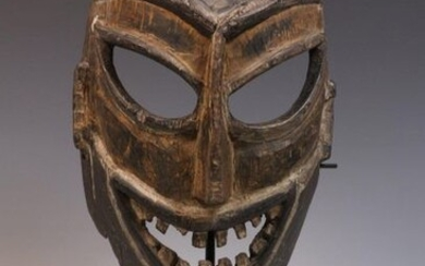 India-Nepal, Himalaya, carved wooden mask, with expressive carved...