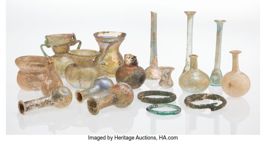 Italian School (16th School), Collection of Glass Objects