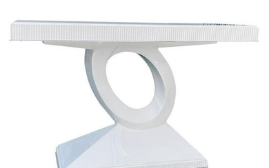 Italian White Lacquered Modern Console Table