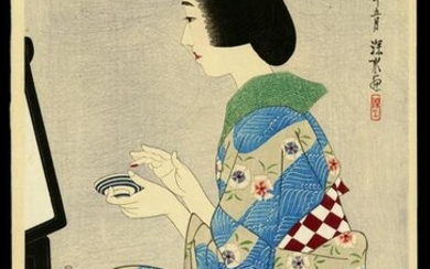 Ito Shinsui Woodblock - Rouge