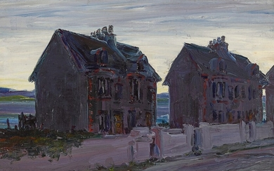 JACK B. YEATS, R.H.A.   HOUSES BY THE SEA