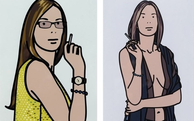 Julian Opie, Ruth Smoking 2 and 5 from...
