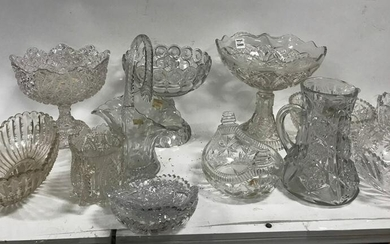 Large Collection of Cut and Pressed Glass