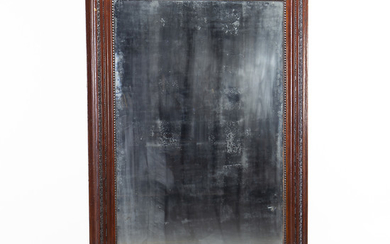 Large Spanish Charles IV-Ferdinand style mirror with frame in carved and inked wood, early 19th Century.