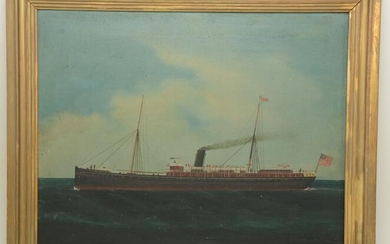 Late 19th Century American School marine ship portrait