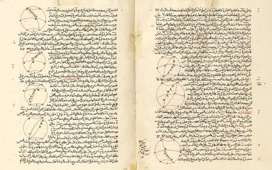 MAJMU'AT AL-MUTAWASSITAT, ('THE COMPENDIUM OF INTERMEDIATE BOOKS'), A RARE AND HIGHLY IMPORTANT COMPENDIUM OF TREATISES ON MATHEMATICS AND ASTRONOMY COMPILED BY NASIR AL-DIN AL-TUSI, COPIED IN BAGHDAD IN 682 AH/1283 AD, THE FINAL PART COMPLETED IN 706...