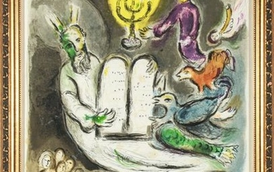 "Marc Chagall ""Exodus Tablets"" Lithograph"