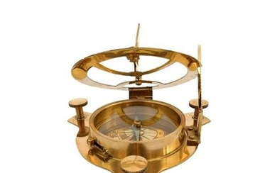 Messing sundial compass -West London